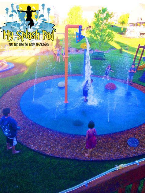 splash pads for backyard home splash park in caledonia michigan installed by my