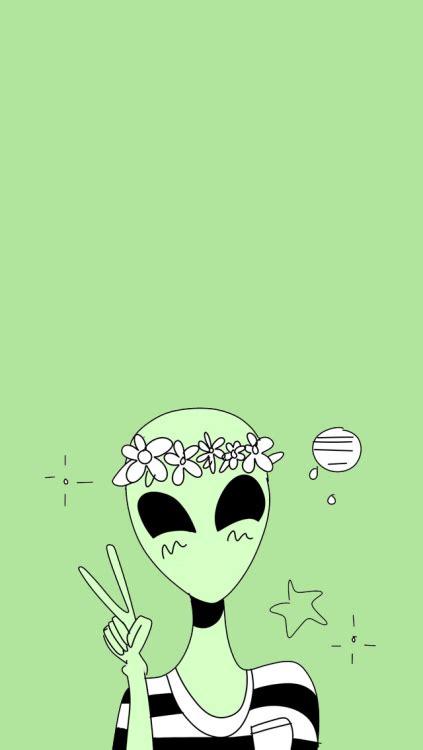 wallpaper cartoon alien unicorns lockscreen tumblr
