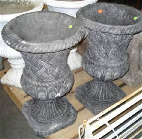 Concrete Urn Planter by Pair Of Concrete Urn Planters 26 898013