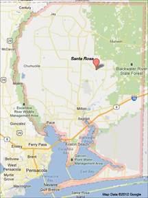 Santa Rosa Florida Map by Florida Santa Rosa County 171 Every County