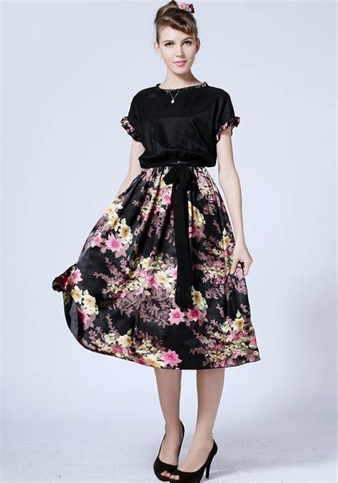 Maxi Free Belt black floral belt sleeve chiffon maxi dress dresses