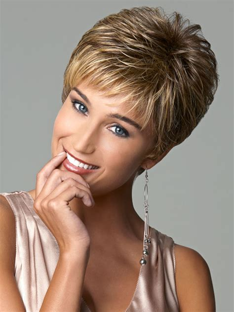 Short Hairstyles With Feathered Sides | gabor virtue short basis cap wig wigs com the wig
