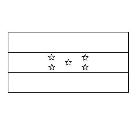 la bandera de honduras para colorear dibujo de honduras para colorear dibujos net