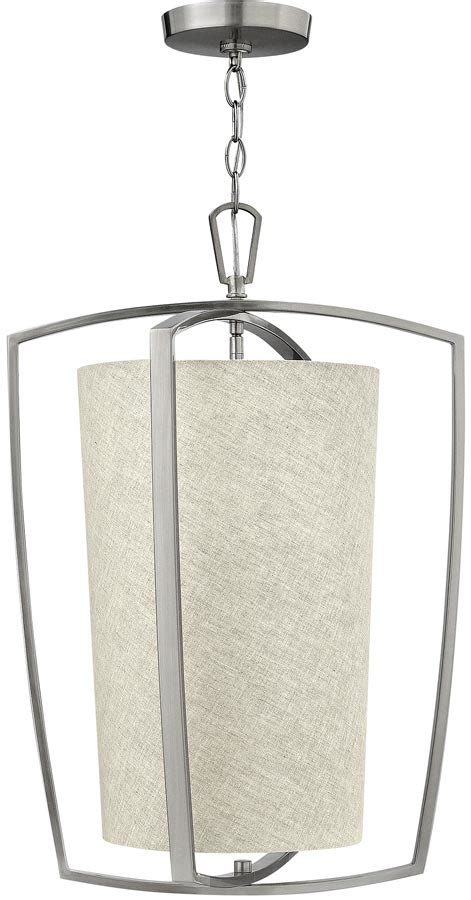 Brushed Nickel Pendant Lighting Kitchen Hinkley Blakely Brushed Nickel 3 L Kitchen Pendant Light Blakely 3p Bn