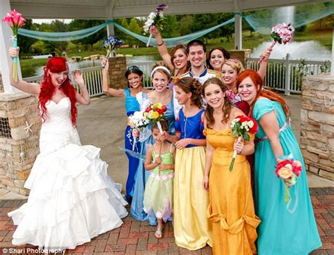 the ultimate fairytale ending disney fanatics tie the knot dressed as ariel and prince