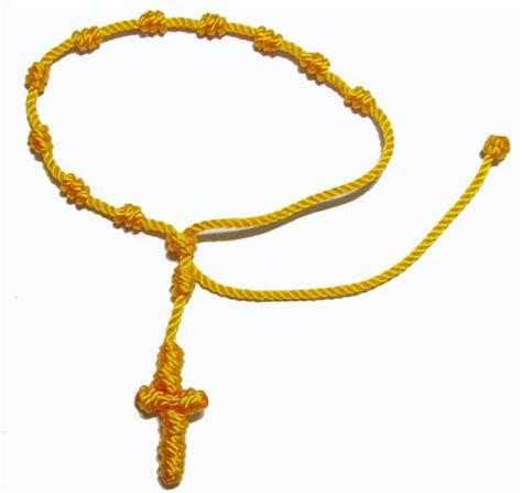 1714 rope rosary bracelet yellow wholesale rosaries