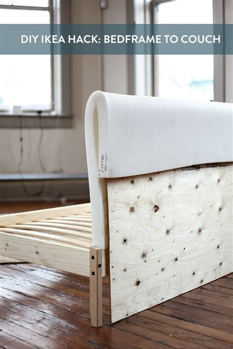 turn mattress into sofa ikea hack turning a fjellse bedframe into a couch bed