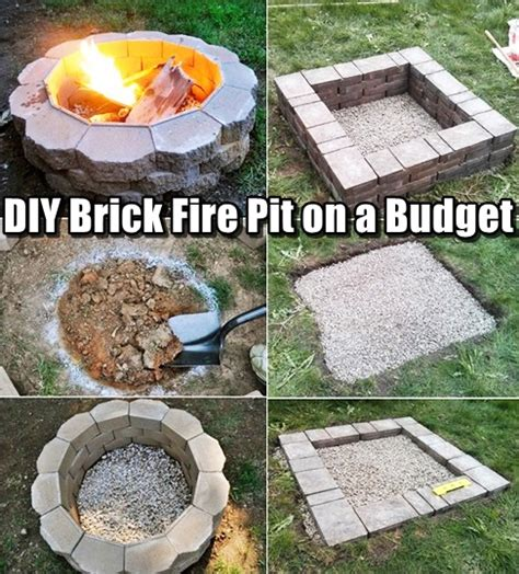 diy pit budget diy brick pit on a budget shtf prepping central