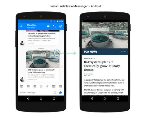 instant android brings instant articles to messenger