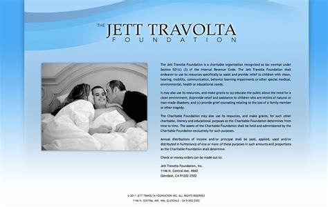 Travolta Trying For A Non Degraded Child by Jett Travolta Foundation