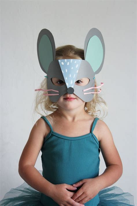 How To Make A Cat Mask With Paper - diy paper cat and mouse masks mouse mask diy paper and