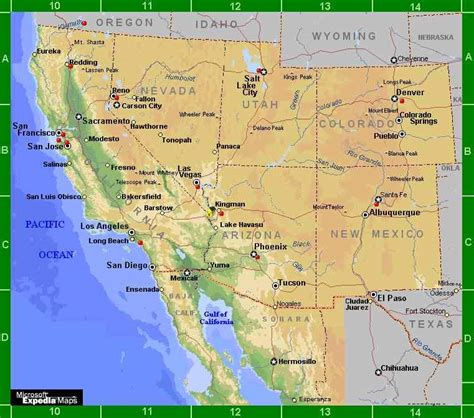 map of south western usa south west airports map images