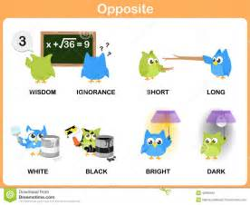 opposite word for preschool stock vector image 42909545