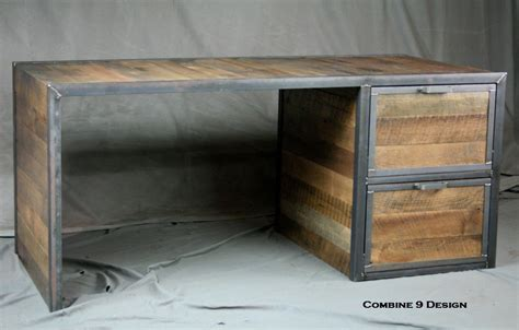 reclaimed wood desk with drawers buy a hand made reclaimed wood desk with file cabinet