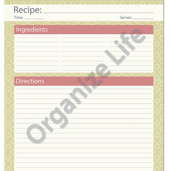 template for hallmark recipe cards recipe card page recipe template from organizelife on