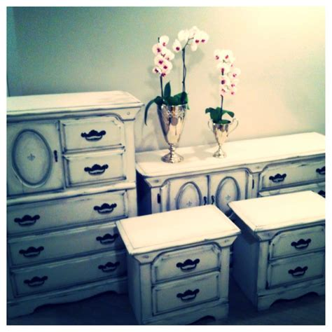shabby chic bedroom set sold made by madrigal pinterest