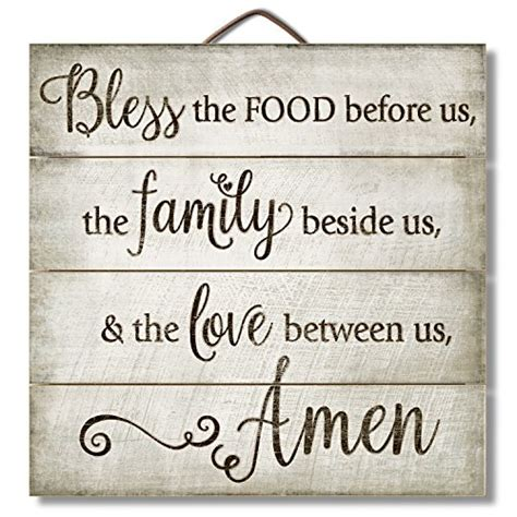 Poster Bless The Food Before Us The Family Beside Us The highland graphics 12 quot inspirational sign quot bless the food
