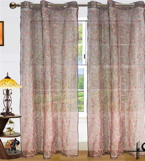 long door curtains online dekor world set of 2 long door eyelet curtains embroidered