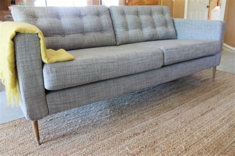 Tufted Heather Grey Karlstad Sofa Furniture Pinterest Ikea Tufted Sofa