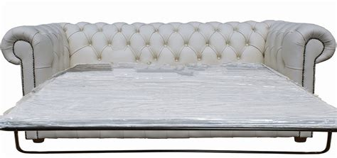 White Leather Chesterfield Sofa White Leather Chesterfield Sofa Bed 1025theparty