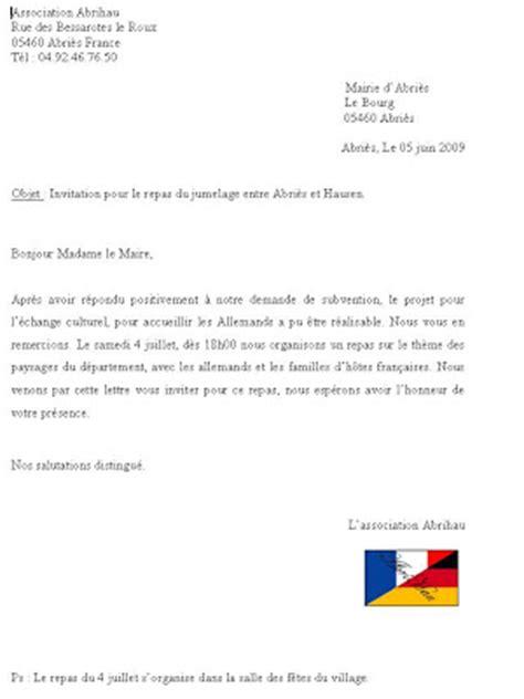 Modèle De Lettre D Invitation Pour Un Maire Association Abrihau Pour Le Projet Document Lettre D