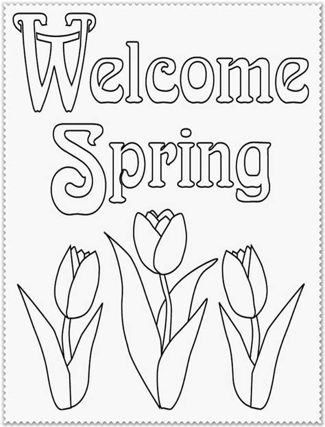 free coloring pages of happy spring