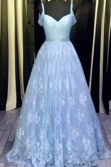 light blue graduation dress light blue lace v neck a line prom dress graduation