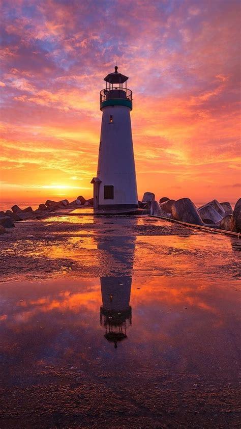 lighthouse  sunsrise fi wallpaper