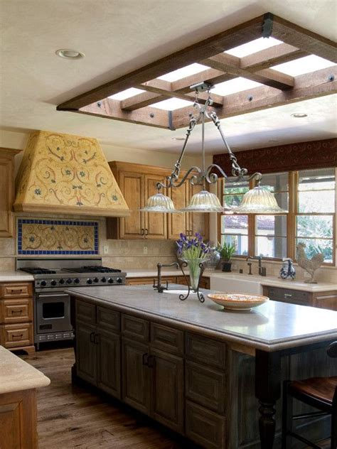 Skylight With Light Fixture 40 Best Images About Kitchen Skylights On Pinterest Window Pictures And Islands