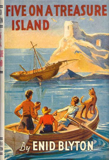 Five Books by Five On A Treasure Island By Enid Blyton