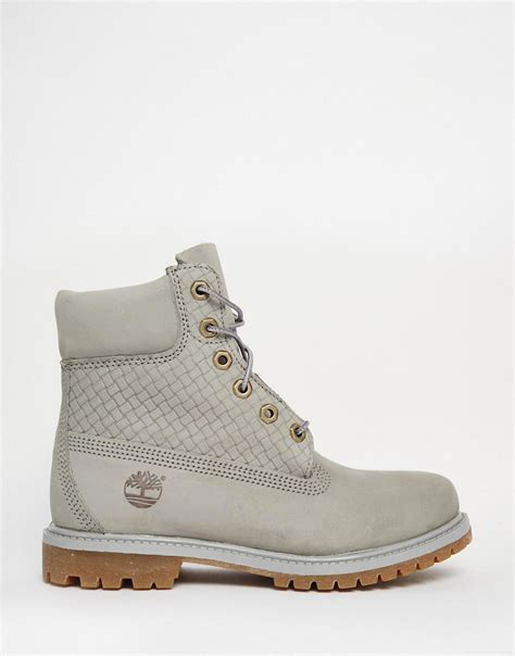 timberland boots grey timberland timberland icon grey 6in premium boots at asos