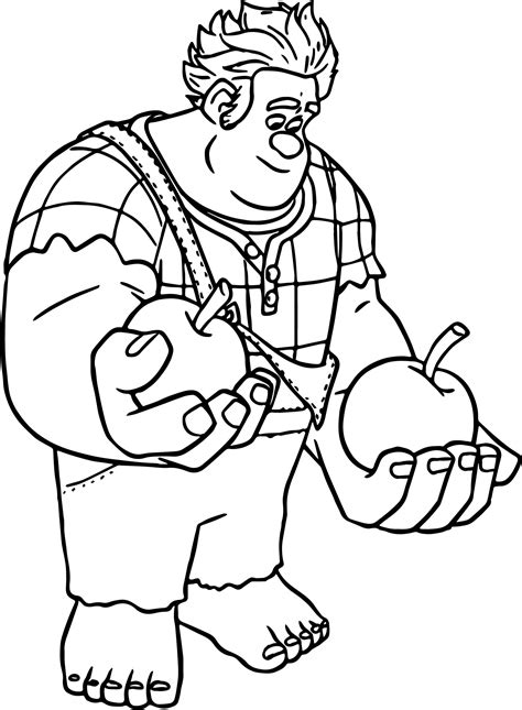 Free Wreck It Ralph Coloring Pages