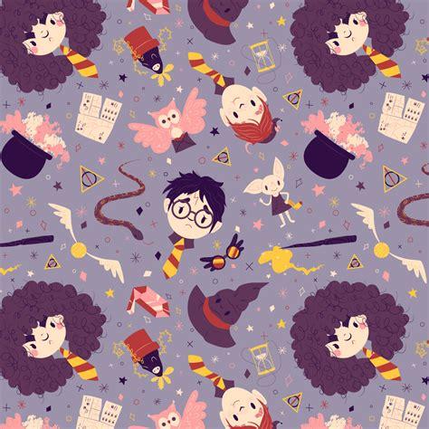 pattern illustration tumblr finished harry potter pattern illustration