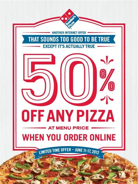 domino pizza promo rabu this dominos coupon code offers 50 off any pizza at menu