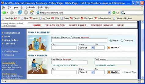 Anywho White Pages Essential For Home Office Dwellers Pcworld