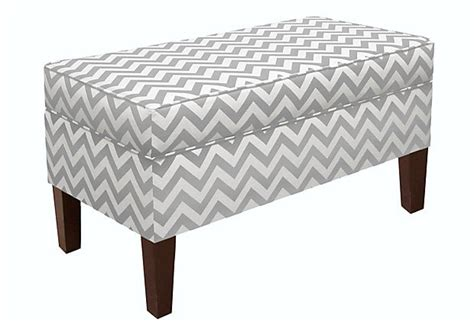 grey patterned bench 74 curated benches ottomans ideas by casabella1st