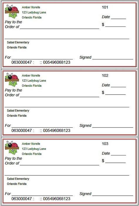 Blank Checks Template Printable Play Checks For Kids Printables For Kids Pinterest Blank Check Maker Template
