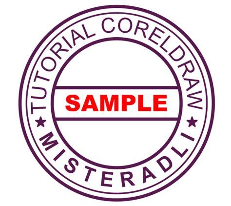 Desain Logo Bulat | cara cepat membuat stempel bulat dengan coreldraw alamister