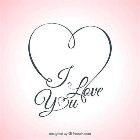 imagenes de i love you con las manos te amo tarjeta de letras descargar vectores gratis