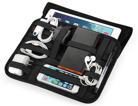 EasyAcc JHUN Travel Cable Organizer with Laptop Sleeve Bag   HolyCool.net