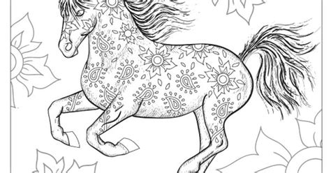 coloring pages of beautiful horses the wonderful world of horses adult coloring colouring