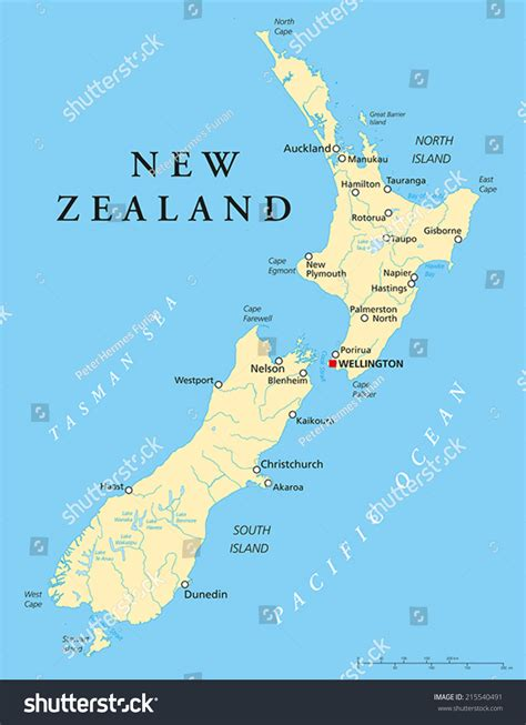 Email Address Search Nz New Zealand Political Map With Capital Wellington National Borders Most Important