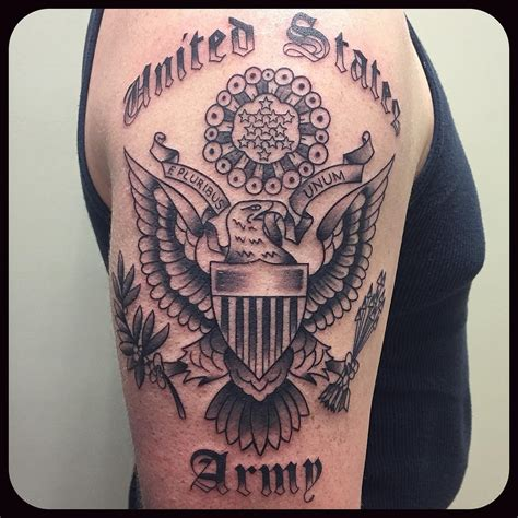 us army tattoo us army arm veteran ink
