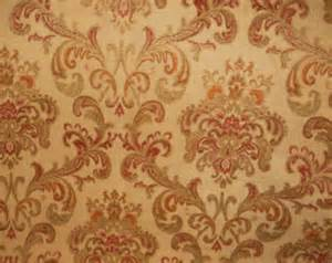 tapestry upholstery fabric rust green floral fabric
