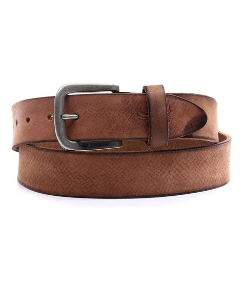 flying machine brown leather belt buy at low price