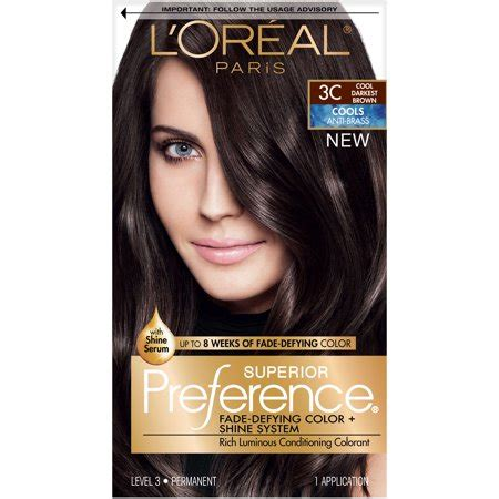 coloring l oreal hair color unique l oreal garnier color sensation 30 2014 24 best of l l oreal superior preference fade defying color shine hair color 3c cool darkest brown