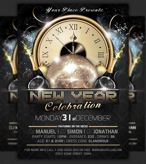 60 amazing christmas and new year s eve flyers for the