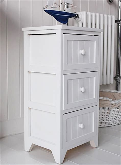 maine 3 drawer bathroom cabinet white cottage living