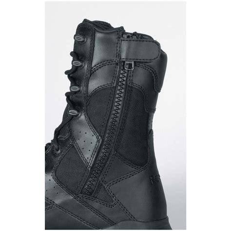 s reebok 174 8 quot black leather composite toe side zip