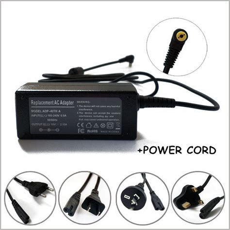 New Adaptor Charger Laptop Acer Aspire One D255 D257 D260 D270 Origin 19v 2 15a ac adapter charger for ordinateur portable acer aspire one ao533 aod270 d255 1134 d270